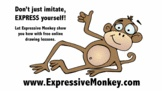 Expressive Monkey- learn how to draw all different types of animals