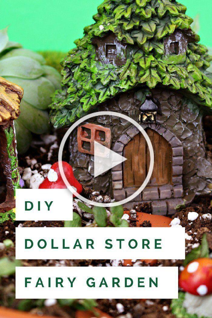 15 Minute Dollar Store Fairy Garden Pedestal Mad In Crafts
