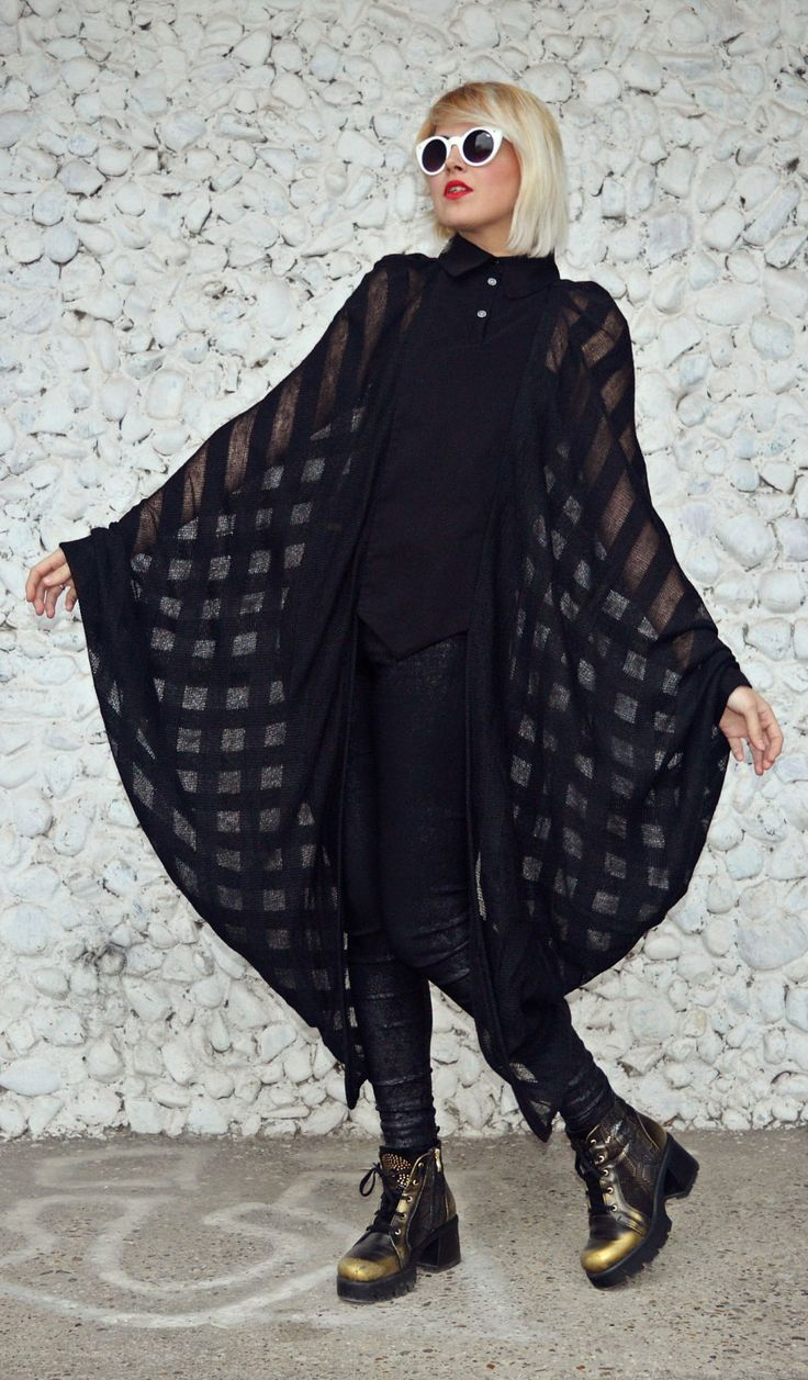 Batwing Top, Black Sheer Blouse, Black Wing Sleeve Blouse, Batwing Winter Blouse TT106, Black Loose Blouse by TEYXO https://www.etsy.com/listing/495149543/batwing-top-black-sheer-blouse-black?utm_campaign=crowdfire&utm_content=crowdfire&utm_medium=social&utm_source=pinterest