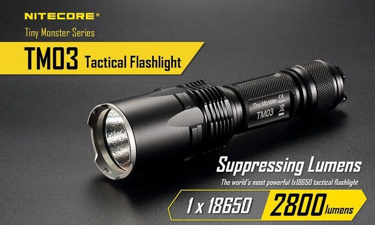 NITECORE TM03 CREE XHP70 2800Lm LED Flashlight Dual Tail Switch