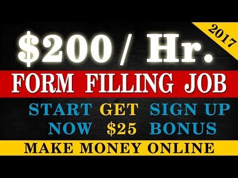 Form Filling Jobs - Weekly Payouts - Earn $200 Daily by filling online forms. Make Money Online - YouTube