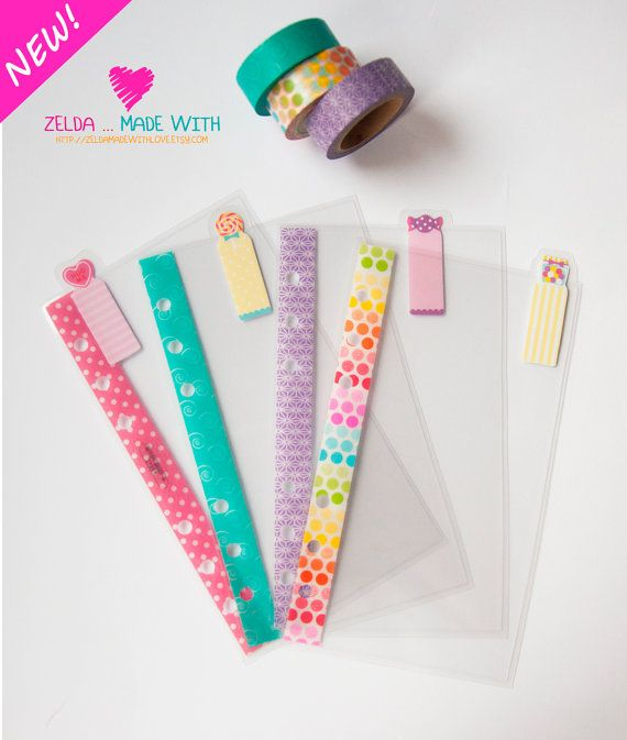 Personal Filofax Clear Dividers Top Tabs by ZeldaMadeWithLove
