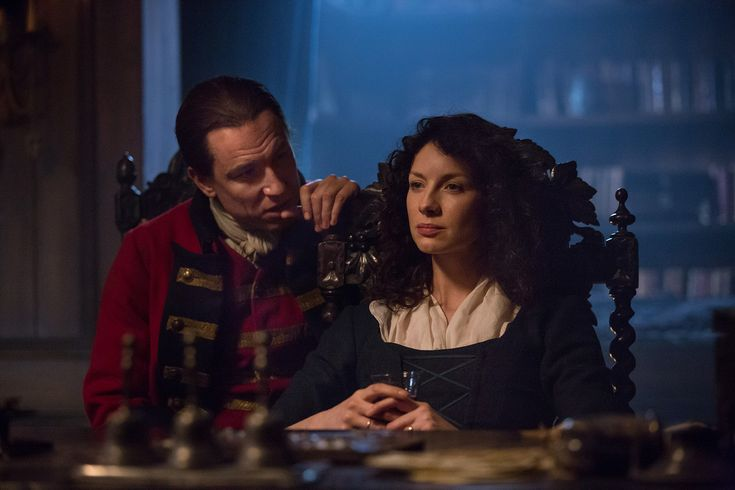 """Caitriona Balfe and Tobias Menzies, """"Claire Fraser"""" and """"Frank Randall"""" 