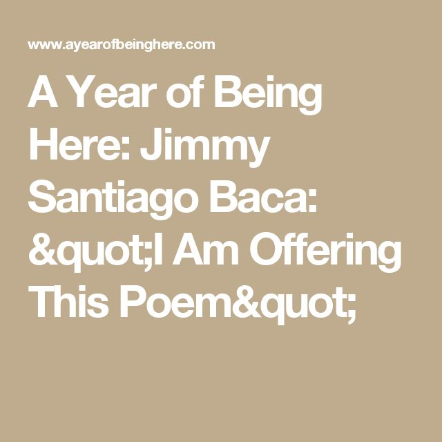 an interview with jimmy santiago baca on poetry Here's an interview i gave with an amazing young woman, a student in albuquerque academy-- on may 12, 2017, at 8:36 am, jimmy baca baca@swcpcom.