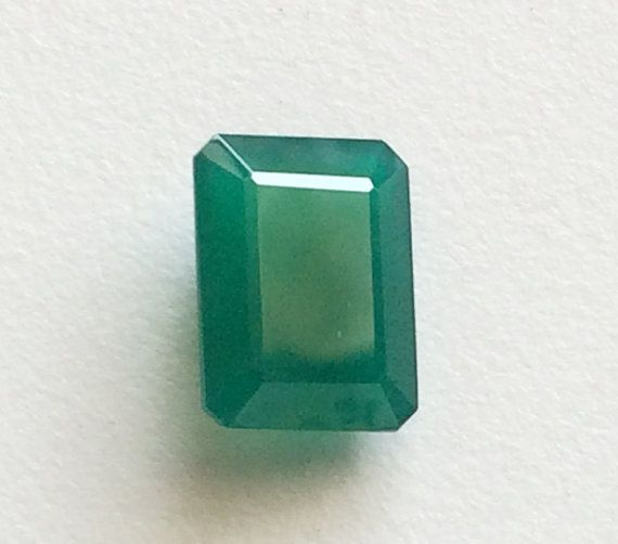 Green Onyx Oval Emerald Cut Cabochon Onyx Finding by gemsforjewels