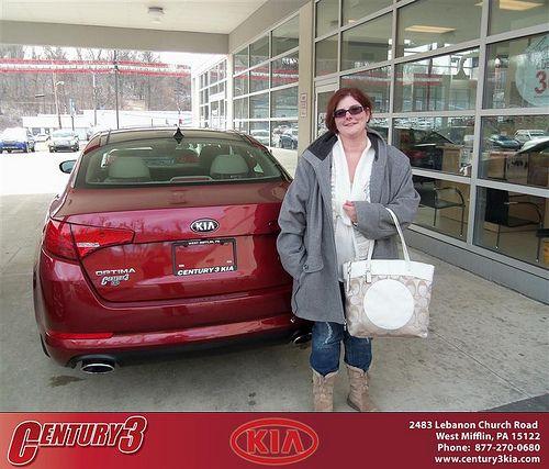Congratulations to Kelly Marshall on the 2013 Kia Optima