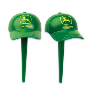 John Deere Hat Shaped Cupcake Picks