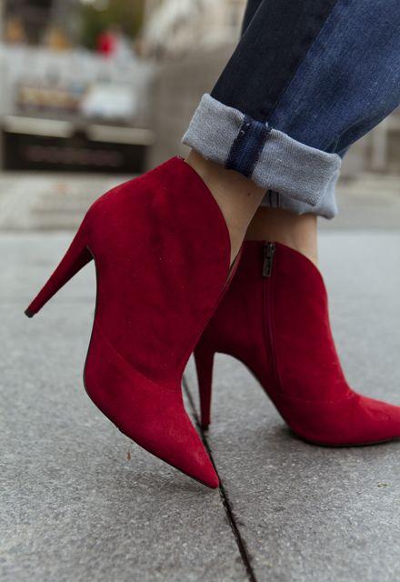Botines rojos de Pura Lopez