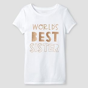 Girls' Graphic Tee Cat & Jack™ - World's Best Sister