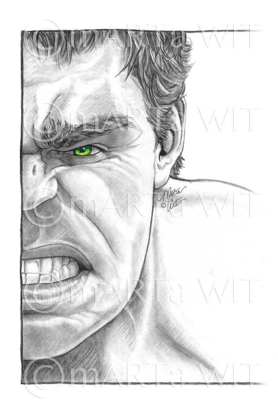 Marvel17 Fan Art Print The Hulk Etsy In 2021 Marvel Art Drawings Avengers Drawings Hulk Art