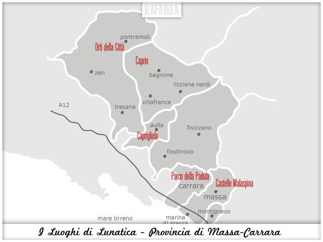 I Luoghi di Lunatica - Provincia di Massa Carrara #lunaticando - #lunaticafestival2014