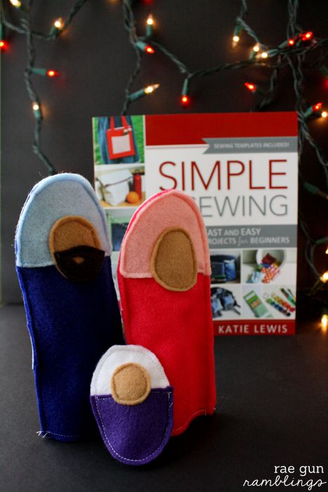 Felt Nativity Puppets and Simple Sewing Book Review and Giveaway
