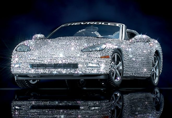 Diamond Encrusted Car: The Ultimate Corvette Featuring Swarovski Crystals: This
