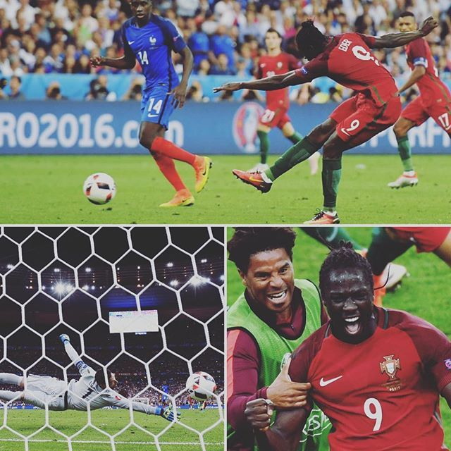 The moment Éder made #por champions of Europe! #PORFRA #EURO2016