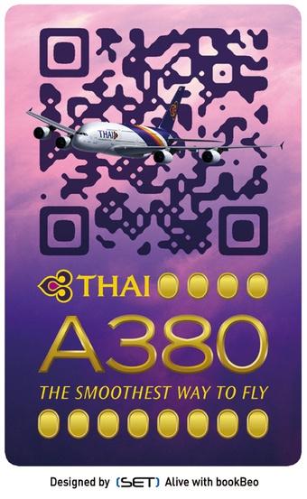 QR Code Design : ça plane pour THAI Airways ! by #SET et Bookbeo