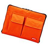 LIHIT LAB Bag-In-Bag (Laptop Sleeve), Orange, 7.1 x 9.8 Inches (A7553-4)