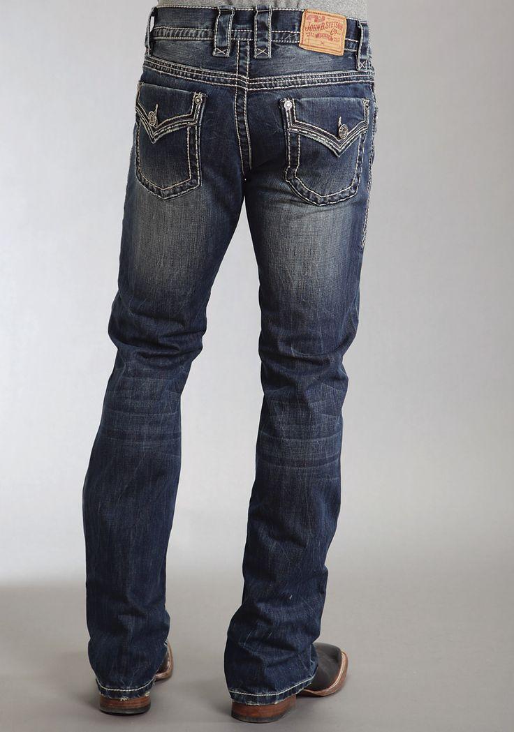 Stetson Mens Stetson Rocks Fit Jeans Flap Back Pkt Ows
