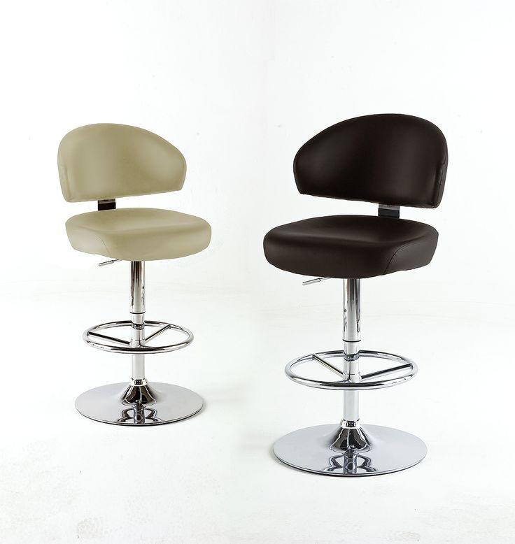 Barstuhl Boss Barhocker 4 verschiedene Farbvarianten Material: Gestell:  Chrom Sitz:  Soft-PVC / Lederoptik / gepolstert Maße: B/H/T ca. 57 x 109 - 121 x 54 cm...