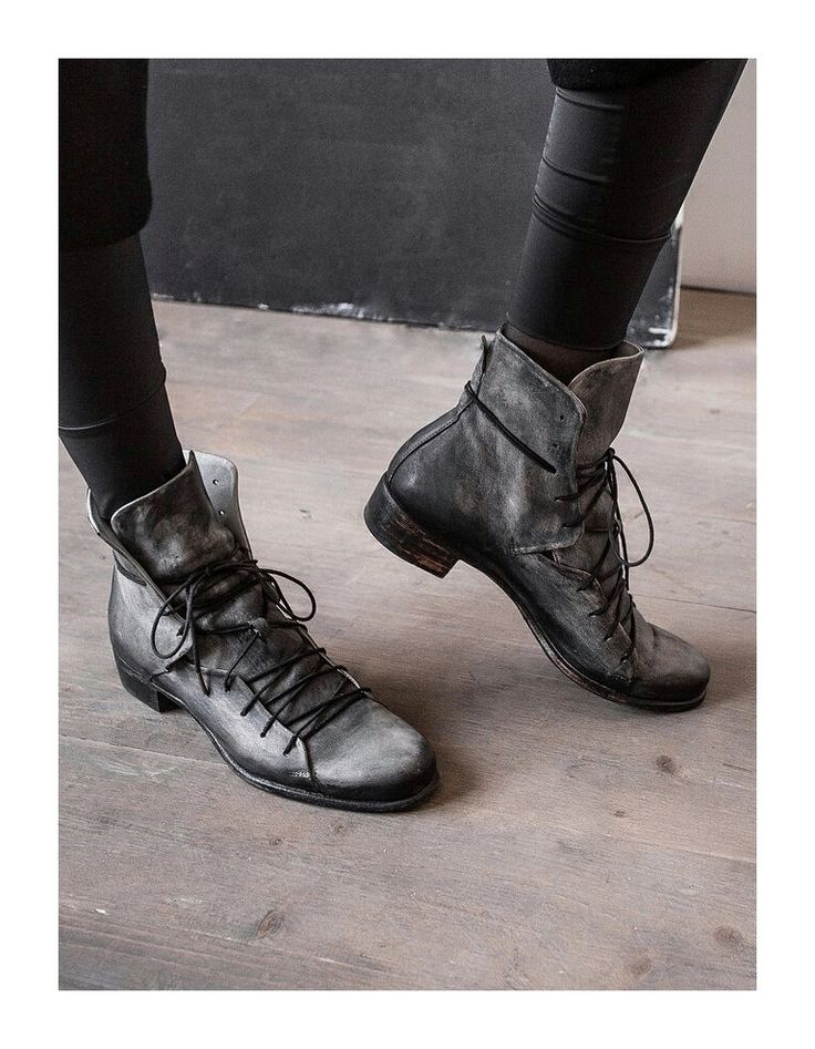 Handpainted Shabby Shoes – by independent designer 04405, €285 at Vathir.com | Handpainted shabby shoes in leather withheel.