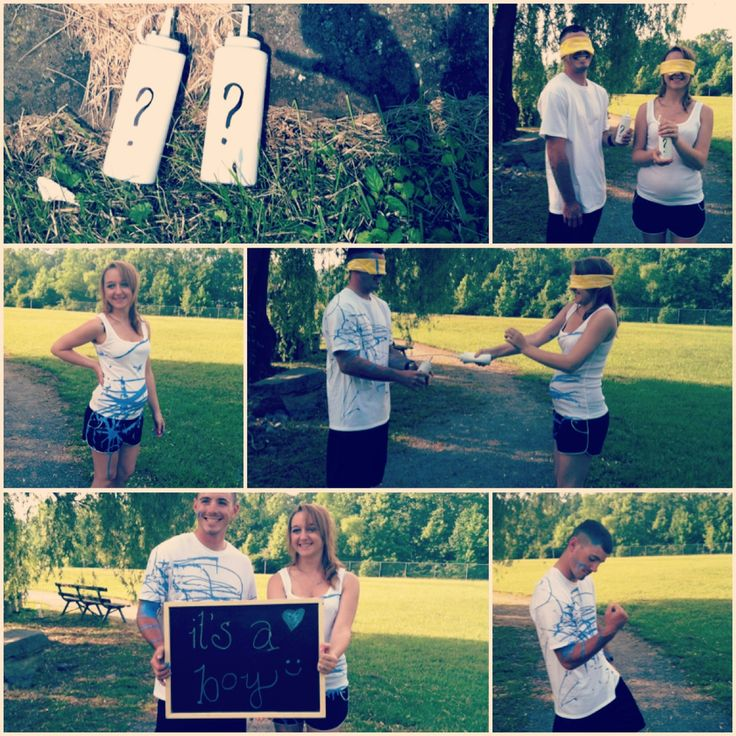 I LOVE this idea!!!!! This just may be it =) since hubby wants to find out I want a fun way for the surprise!!!