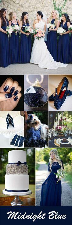 stunning midnight blue wedding color inspiration