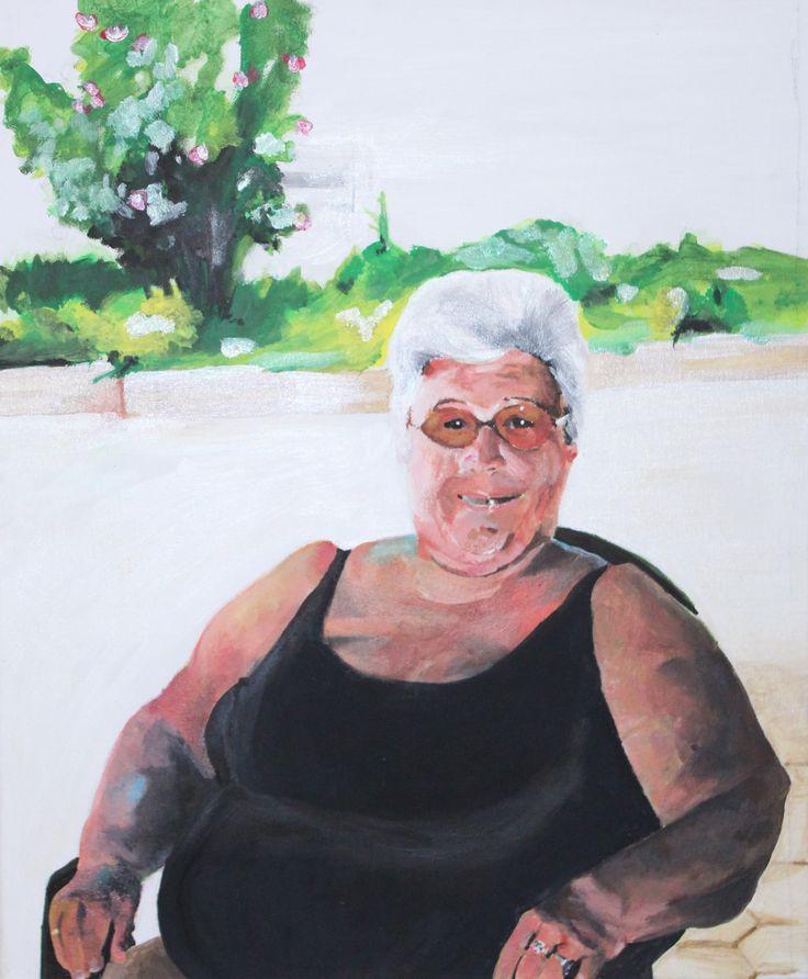 Avó Mizé Acrylic Painting