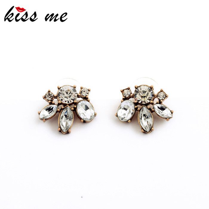 Cheap Price Vintage Style Small Resin Stone Stud Earrings Fashion Jewelry Women Retro Brincos