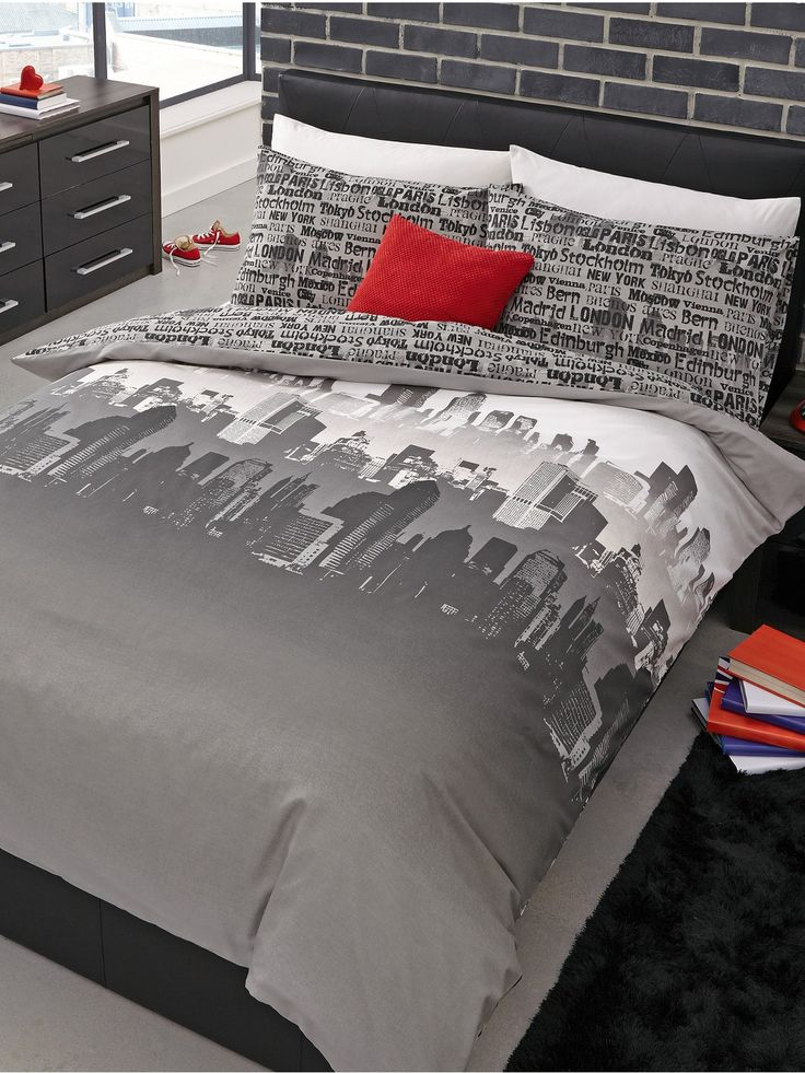 Cityscape Duvet Cover Set Bedroom Ideas Pinterest Duvet Covers
