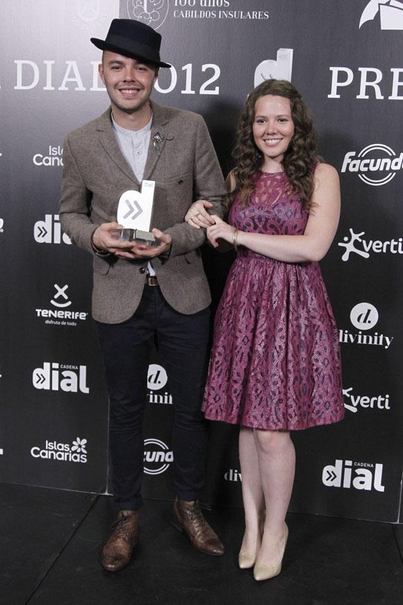 El dúo musical Jesse & Joy en los Premios Dial