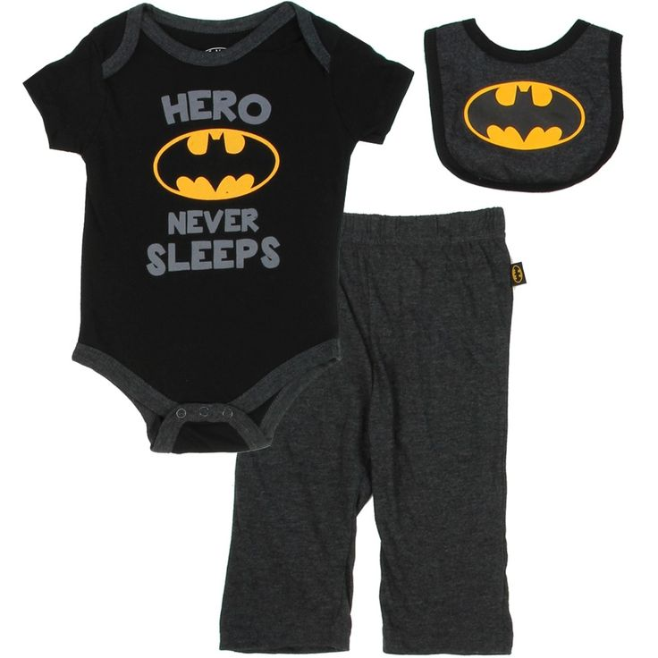Color Black Sizes 0/3 Months 3/6 Months 6/9 Months Made From 100% Cotton Brand DC Comics Batman Officially Licensed DC Comics Batman Baby Clothes