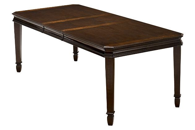 Dark Brown Hayley Dining Room Table View 1