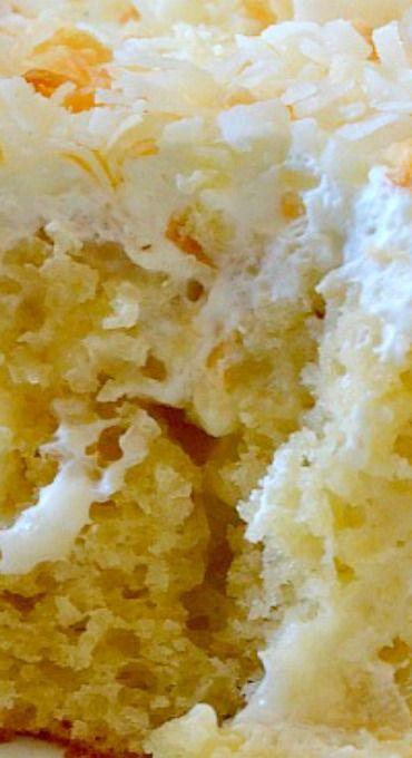 Triple Coconut Poke Cake
