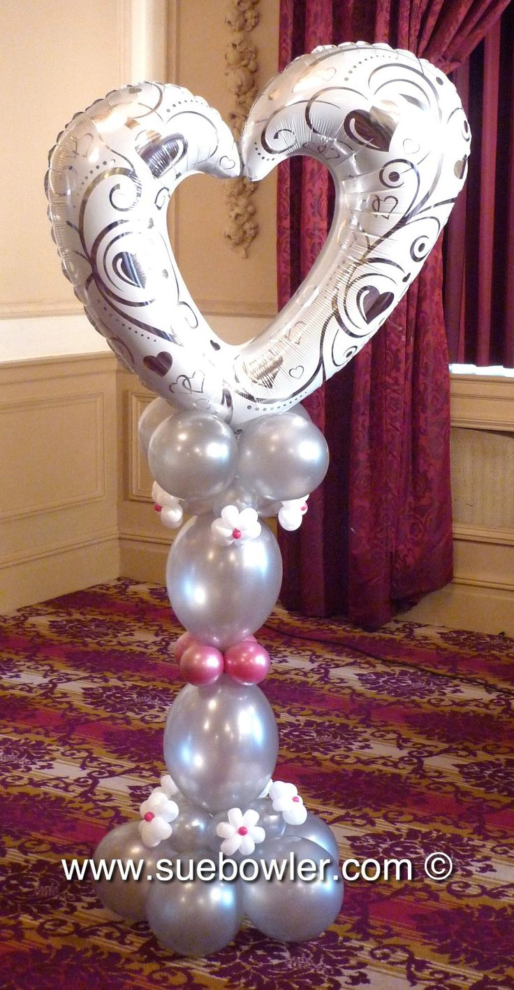 Wedding decoration ideas balloons   best Arches u Columns images on Pinterest  Arch Arches and Bows