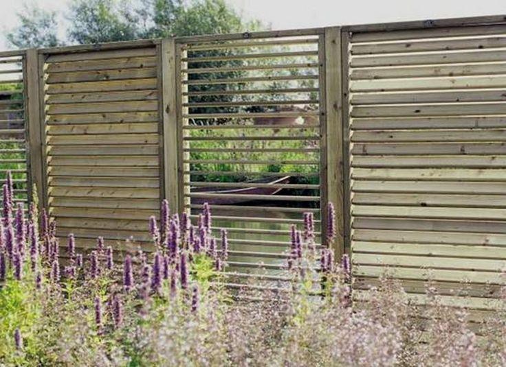 Shutterscherm Hillhout, ook leuk als room divider in de tuin of als wand in een overkapping