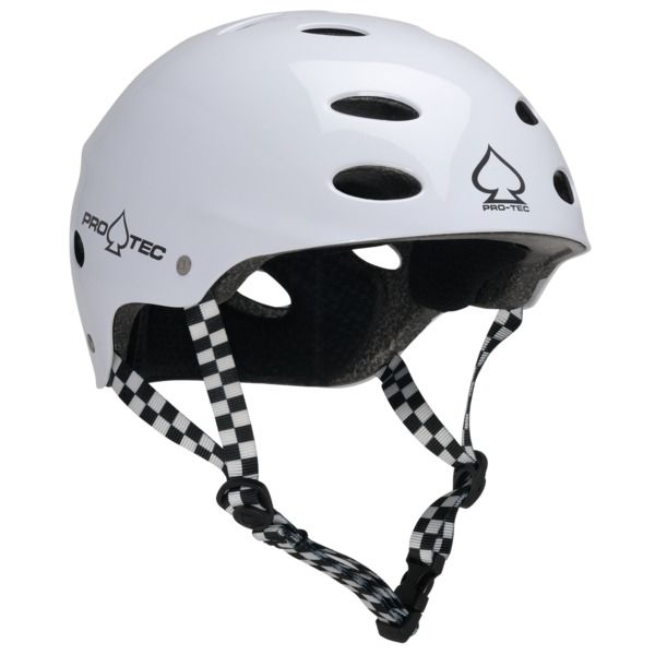 "PRO-TEC Ace EPS Gloss White Skateboard Helmet - CE/CPSC Certified - X-Small / 20.1"" - 20.5"""
