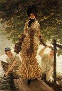 """New artwork for sale! - """" On The Thames by James Jacques Joseph Tissot """" - http://ift.tt/2oRMZsL"""
