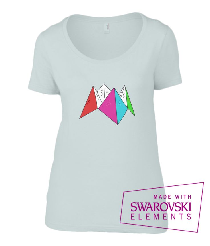 Crystal Pystols    Origami 80's T-Shirt    ++ Swarovski Embellished ++