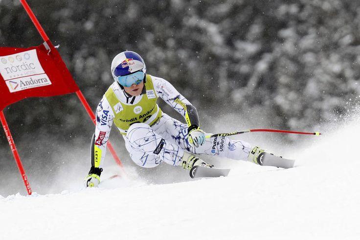 """S-Kombi Andorra 28-Feb-2016 Lindsey Vonn überrascht nur einen Tag nach ihrer Knieverletzung mit der Bestzeit im Super-G am Morgen. * Vonn zur Frage, ob die Verletzung nur simuliert sei: """"das ist Quatsch""""!! SG* 5.Lara GUT+0,43..13.Gagnon"""