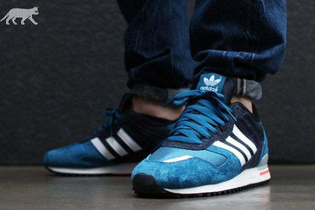 Massive amount of ZX's is comming this year :) One of the nice at the beginning :) #ADIDAS #ZX 700 #zx700 (TRIBE BLUE) | Sneaker Freaker #sneakers #kicks