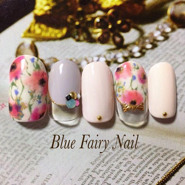 ネイル 画像 Blue Fairy Nail ブルーフェアリーネイル 千里丘 717740