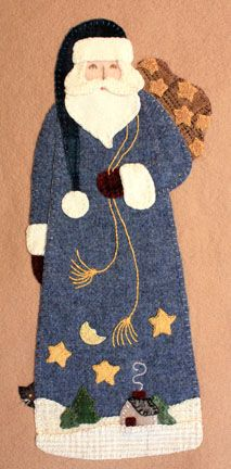 Starry Night Santa pattern by Sandi Bard