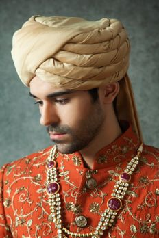 Cotton silk turban from #Benzer #Benzerworld #weddingaccessoriesformen #Turbans
