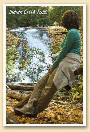 Indian Creek Falls in Deep Creek, of the Great Smoky Mountains National Park. #Smoky #Mountains #Hiking #National #Park #Smokies #Smokey