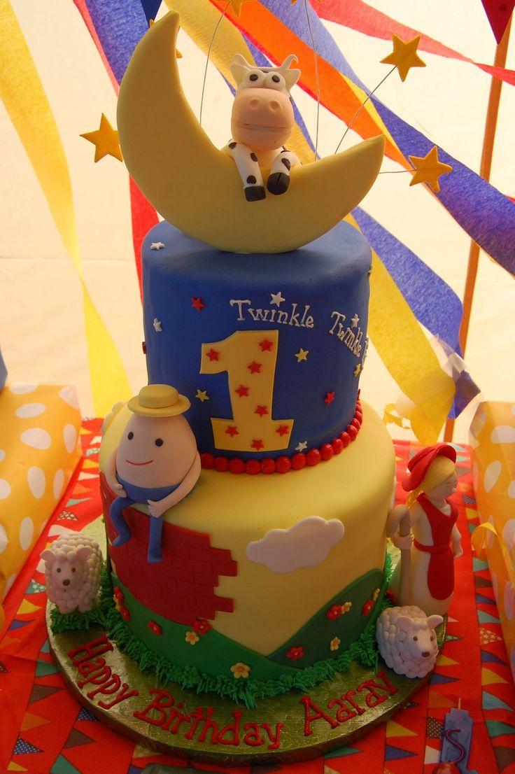 Nursery rhyme theme birthday cake | Nursery rhyme party ...