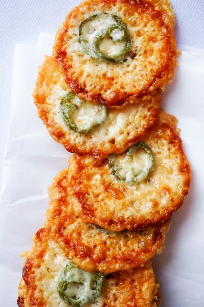 The Parmesan Crisps are the perfect low carb chip replacement for snacking on or making for a party full of people!
