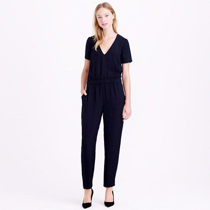 We're big fans of the one-piece—and for summer, it makes even more sense. Made from a slightly textured fabric known for its flattering drape and finished with a blouson-style waist and a keyhole back, this is what we call a chic instant outfit.