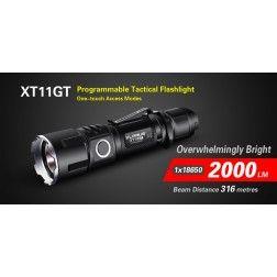 Klarus XT11GT Rechargeable  Torch (2000 Lumens) CREE XHP35