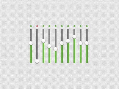 Dribbble - Equalizer from Impressionist UI by DesignModo (Adrian)