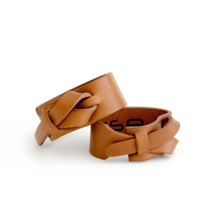 idea ~ Single Loop Leather Cuff – Camel