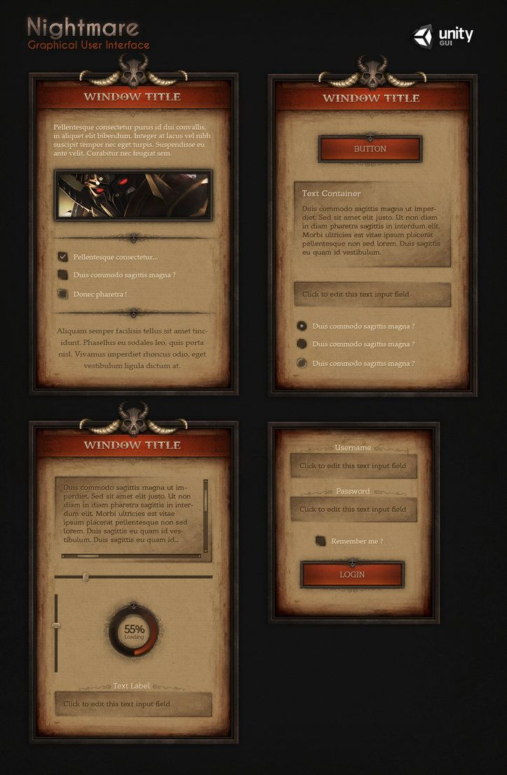 Nightmare UI by Evil-S on DeviantArt